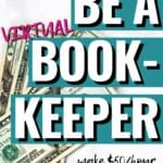I never really knew that bookkeeping was different than being an accountant, but WOW, this sounds like an amazing work from home job! I would love to get started with how to become a bookkeeper ASAP, so I can make some extra money on the side! Who else is excited to start your own bookkeeping business at home! #HowToBecomeABookkeeper #BookkeepingBusiness #OnlineBusiness #SideHustle #ExtraIncomeIdea #WorkAtHome #OnlineJobs #StayAtHomeMom
