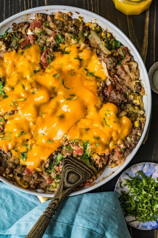 ground beef recipe cheesy breakfast scramble