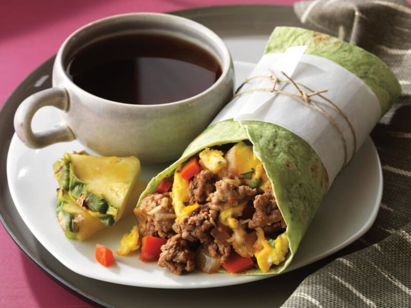 ground beef recipe breakfast burritos