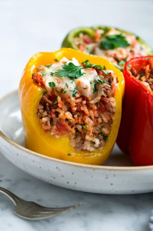 ground beef recipe classic stuffed peppers