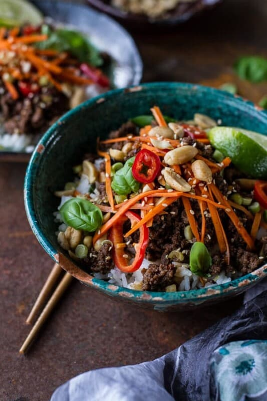 20-minute beef and rice bowls ground beef recipe