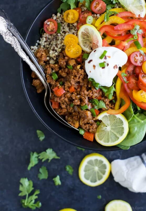 stuffed peppers bowl ground beef recipe