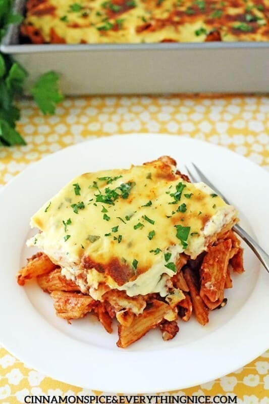greek baked ziti ground beef recipe
