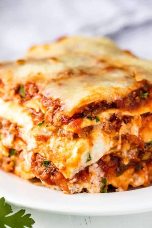 lasagna with meat sauce ground beef recipe