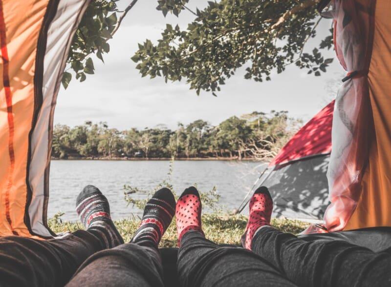 anniversary idea go camping