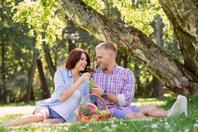 anniversary idea picnic in the park