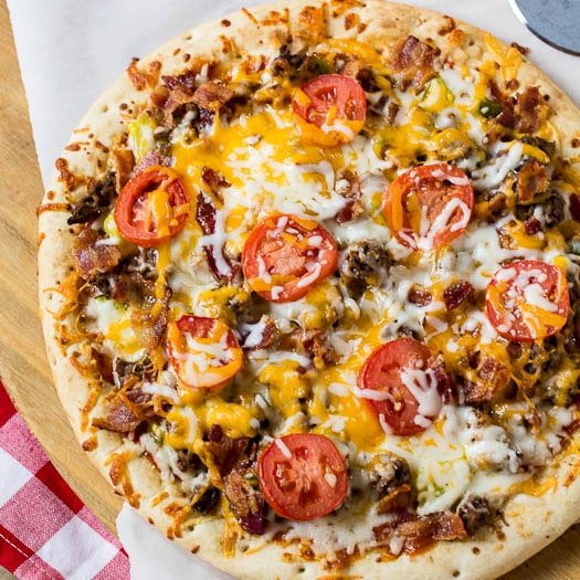 cheeseburger pizza ground beef recipe