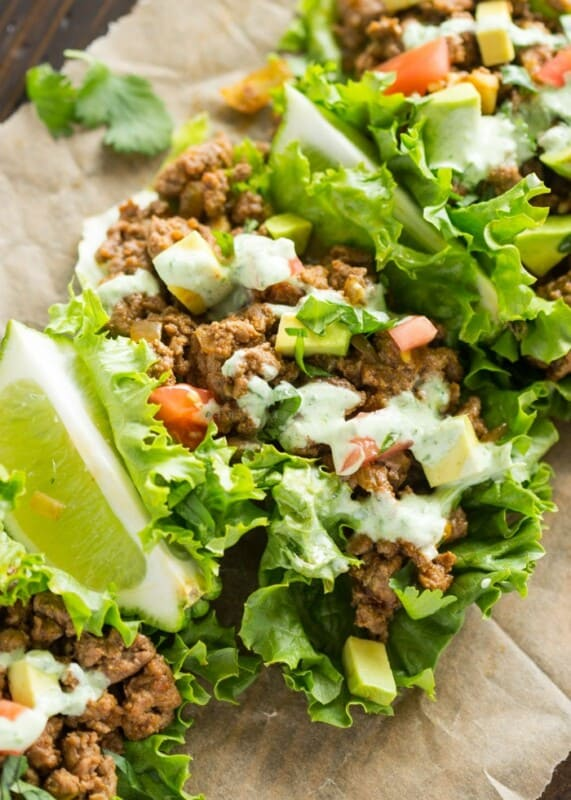 beef lettuce wraps ground beef recipe