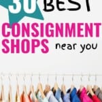 "Oh my gosh, this is a GREAT list of consignment shops near me -- I love that there are even some specialist shops that take things like musical instruments! So cool. Can't wait to see how much extra ""stuff"" we can purge from our home to make some extra cash with! #ConsignmentShopsNearMe #ClothingResale #ThriftShops #Boutiques #SellYourStuffOnline"