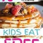 I LOVE this list! My kids are ALWAYS asking for takeout, and keeping up with feeding a family is exhausting! I definitely need to print this list or something so I can keep it in my car when we're off for a short notice dinner out! #KidsEatFree #WhereDoKidsEatFree #Restaurants #PlacesWhereKidsEatFree #CheapFamilyDinners