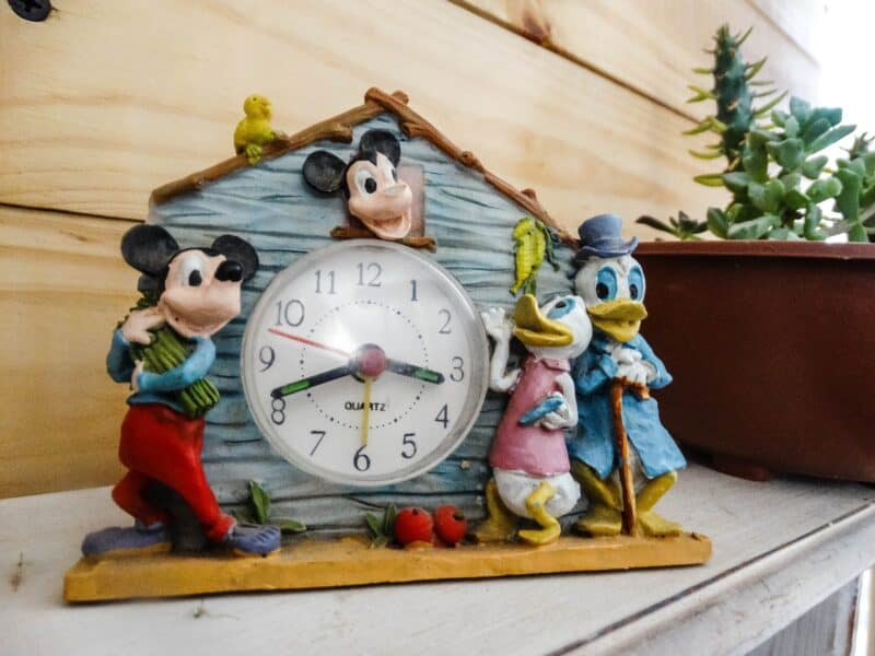 vintage disney clock from flea market resale is a good way to invest money
