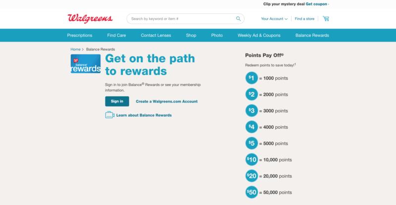 walgreens balance rewards homepage online way to get paid to lose weight