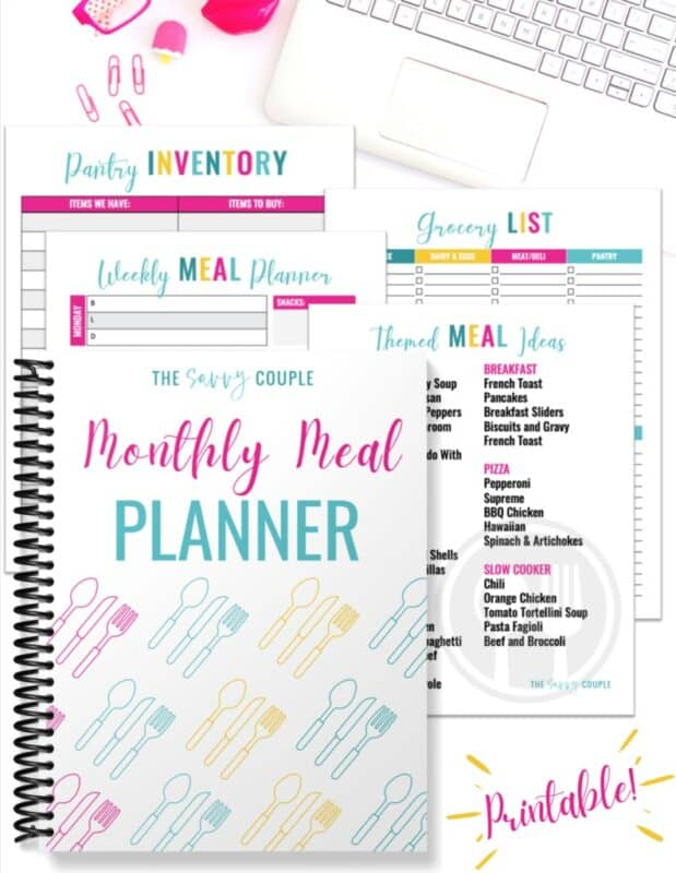 meal planning template the savvy couple
