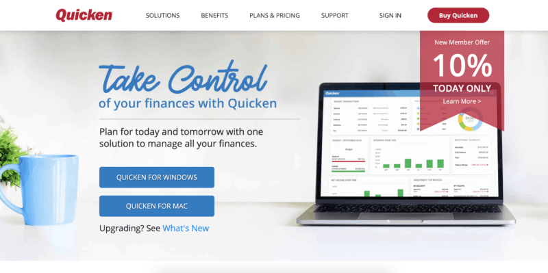 quicken best personal finance software for money management