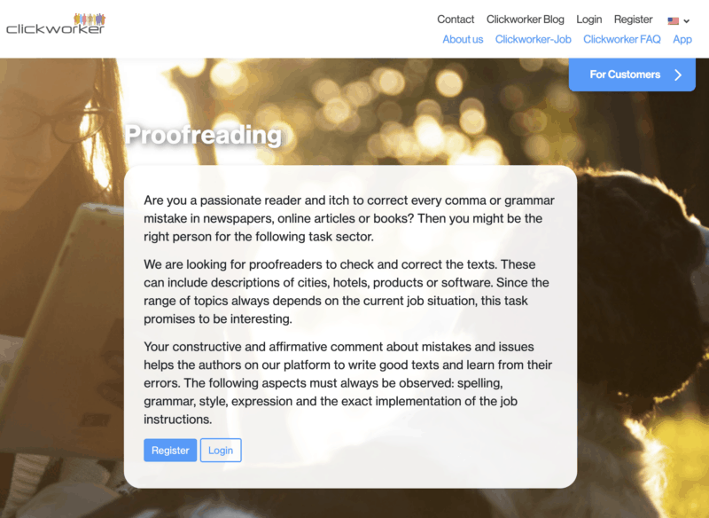 ClickWorker Proofreading Job