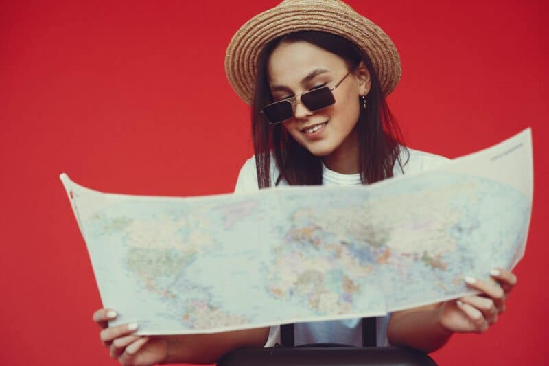 woman prepping to be a tour guide as a hobby that makes money