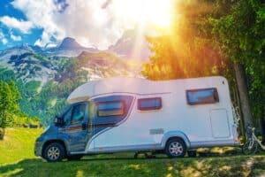Rent your rv Camper Camping. Class B European Style Motorhome Caravan. Camper Van Trip. Summer RV Adventure.