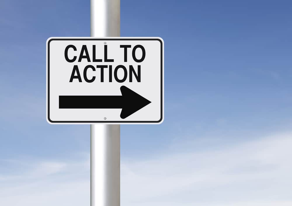 Leadpages Review call to action sign